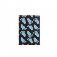 4 Targhette blu per nascita - Cioccolato (3,5 cm)