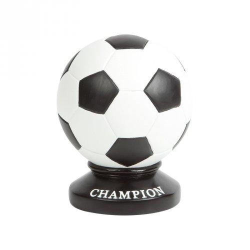 """Salvadanaio pallone da calcio con scritta """"Champion"""" - Ceramica"""