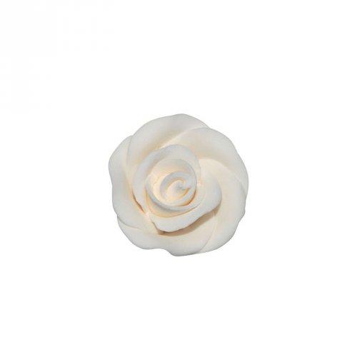 1 Mini rosa bianca (2,5 cm) - Non commestibile