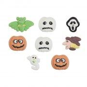 8 Halloween 2D Mini Deco - Pasta di zucchero