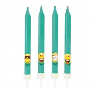 4 Candele Emoji Smiley (10 cm)