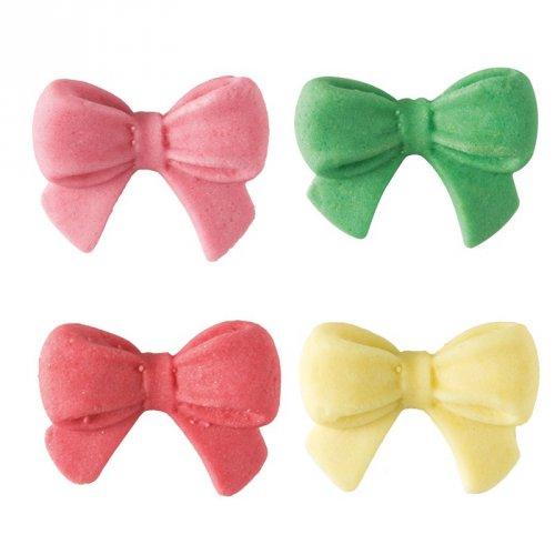 5 Fiocchi colorati 2D (2,5 cm) - Pasta di zucchero