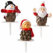 3 Stecchini Natale (4 cm) - Plastica