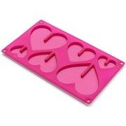 Stampo per cioccolato Cuori in 3D