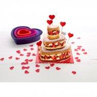 Kit Stampi per torta cuore a 3 piani