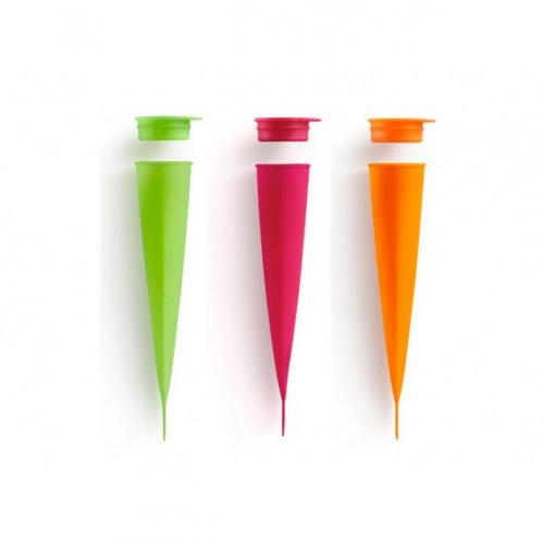 3 stampi per gelato in silicone (20 cm)