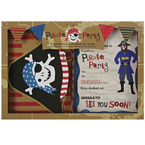 Kit Inviti e ringraziamenti Pirata Smile
