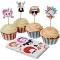 Kit 24 Pirottini e decorazioni per cupcake Ritratti buffi images:#0