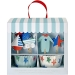 Kit 24 Pirottini e decorazioni per cupcake Bimbo blu. n°2