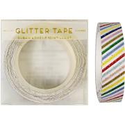 Nastro adesivo righe multicolore glitter