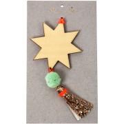 Decorazione Albero di Natale Stella Cadente - Legno