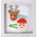 2 fermagli Babbo Natale e Renna. n°1