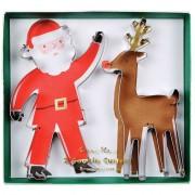 2 Tagliabiscotti  Babbo Natale e Renna (13 e 14 cm)