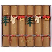 6 Piccoli Crackers Fawn Crackers nella foresta (19 cm)