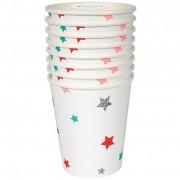 8 Bicchieri stella di Natale