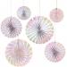 6 ventagli rosa iridescente (16, 27 e 34 cm). n°2