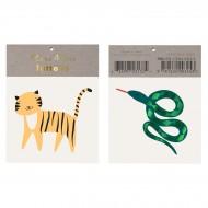 2 tatuaggi serpente / tigre