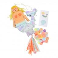 Mini Pinata Cadeau Sirena (13,5 cm)