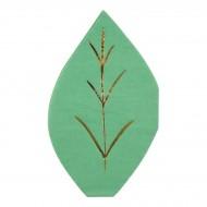 16 Tovagliolini Foglie (15,5 cm)