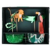 Kit 24 Pirottini e decorazioni Animali della giungla
