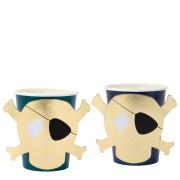 8 Bicchieri Golden Pirata