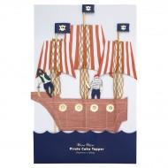 Maxi decorazione per torta - Pirata dorato (28 cm)
