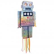 Pull Pinata Robot - Iridescente