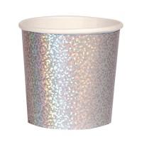 Contiene : 1 x 8 Bicchieri - Argento Olografico