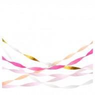 5 Stelle filanti di carta crespa - Pastello