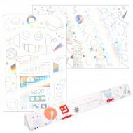 2 Poster da colorare - Spazio/Robot