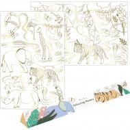 2 Poster da Colorare - Animali della Giungla