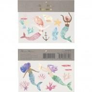 2 Fogli di Tatuaggi Sirene