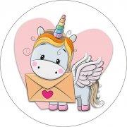 1 Disco Unicorno postino (21 cm) – Ostia