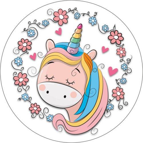 1 Disco Unicorno Cuore (21 cm) – Ostia