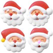 4 Mini Decorazioni Babbo Natale (2,5 cm) di Zucchero