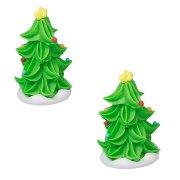 2 Mini Alberi di Natale 3D (4 cm) - Zucchero
