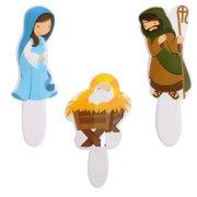 3 Decorazioni Presepe di Natale (8 cm)
