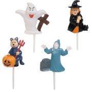4 Stecchini di Halloween 3D - Plastica