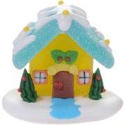 Casetta di Natale gelatina di zucchero (6 cm)