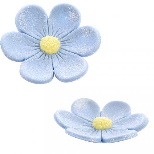 2 Anemoni (3,4 cm e 2,2 cm) - Blu