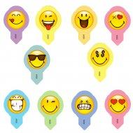 10 Topper Smiley (5 cm) - Ostia