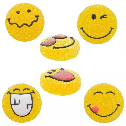 3 Emojis (3 cm) - Zucchero gelificato