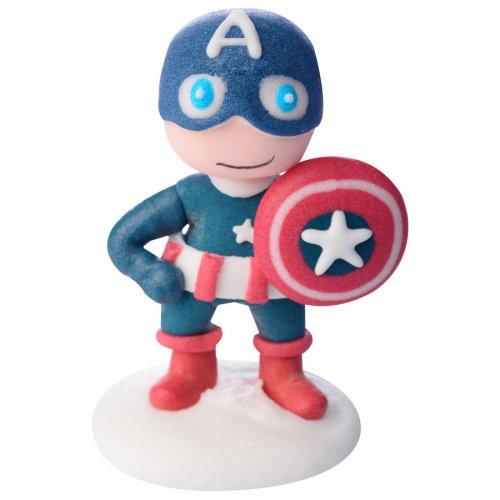 Statuetta Captain America (6 cm) - Pasta di zucchero