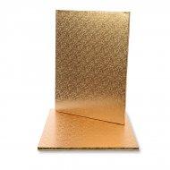 1 teglia per torta rettangolare oro (40 cm)
