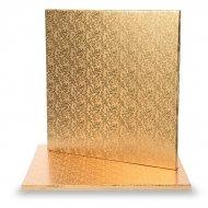 1 teglia per torta quadrata oro (30 cm)