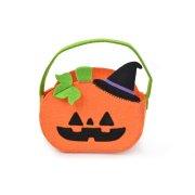 Sacco cestino zucca di Halloween (15 cm) – Pannolenci