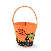 Borsa secchio zucca di Halloween (12 cm) - Pannolenci