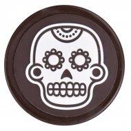 3 Medaglioni con teschi messicani (4,5 cm) - Cioccolato fondente