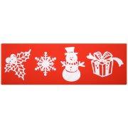 Stampo per Stampe Motivo di Natale (20 cm) - Silicone