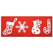 Stampo per Stampe Motivo di Natale Pizzo (15 cm) - Silicone